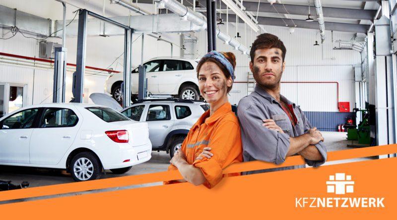 Kfz-Mechatroniker und Kfz-Mechatroniker/in und einer Werkstatt.